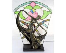 Leadlight Art Deco Lamp Floral (TL-866/1351)
