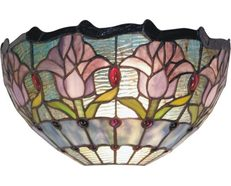 Mauve Tulip Wall Light