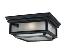 Shepherd 2 Light Flush Mount Dark Weathered Zinc - FE/SHEPHERD/F