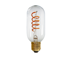 Vintage 4W E27 LED Dimmable Tubular Spiral Filament Bulb