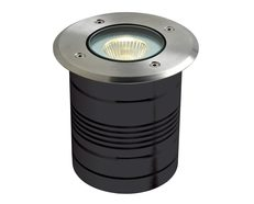 Modula 9 Watt 24V Round LED Inground Light Aluminium / Warm White - 19420