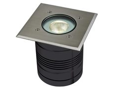 MODULA-SQUARE 24V 9W LED Inground Light - Aluminium Finish / Warm White LED