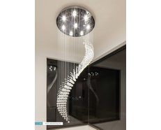 Boomerang 48 Watt LED Crystal Pendant Large / White - 35022