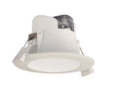 Wave Round 7W LED Dimmable Downlight White / Tri Colour - S9064TC WH