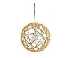 Geogro 1 Light Small Wood Veneer Pendant