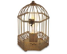 Harling Vintage Bird Cage Style Table Lamp Rust - 49287