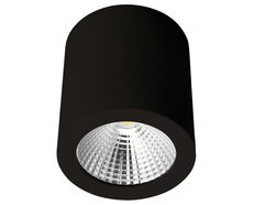 NEO-SM-13 Cylindrical 240V 13W LED Ceiling Light - Black Finish / Warm White LED