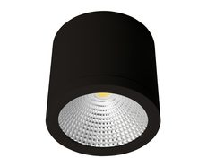 NEO-SM-25 Cylindrical 240V 25W LED Ceiling Light - Black Finish / Warm White LED