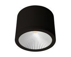NEO-SM-35 Cylindrical 240V 35W LED Ceiling Light - Black Finish / White LED
