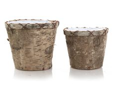 Pots Round Birch Set of 2