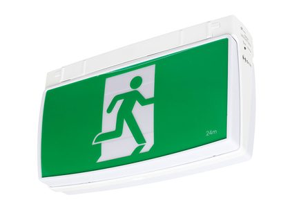 One Box Surface Mounted LED Exit Sign With 1W Emergency Downlight - 19876/05