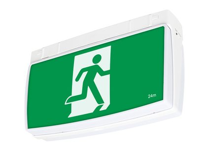 One Box Surface Mounted LED Exit Sign - 19874/05