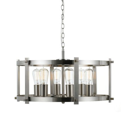 Finley Large Matte Nickel Pendant