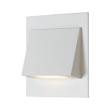 Vega 3W Square LED Step Light Cool White - White
