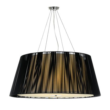 Chloe 5 Light Large Black Pendant
