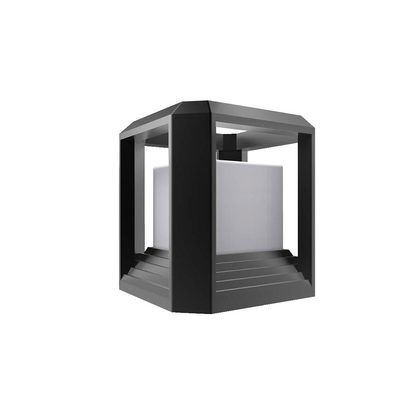 Rubik 1 LED Pillar Mount Light - Black