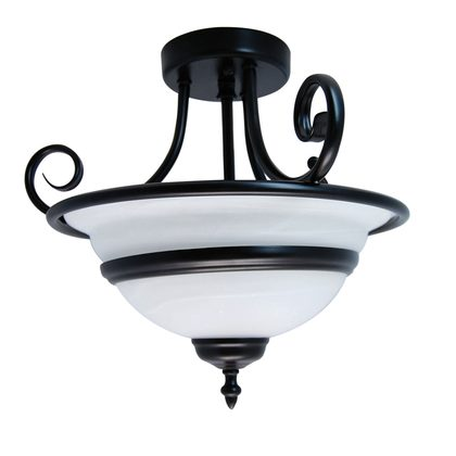 Lola 3 Light Semi-Flush Black