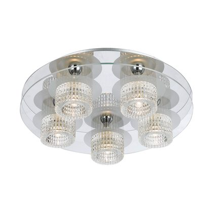 Seville 5 Light Round Flush Mount Light