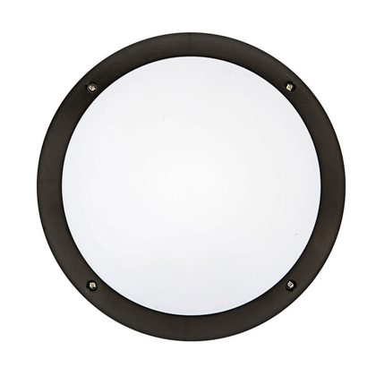Hardy LED Round Bunker Wall Light - Black