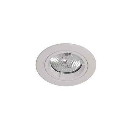 Low Voltage Round Fixed Frame Only - White