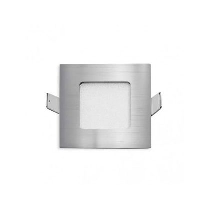 Stow 3W Square LED Step Light Warm White / Silver